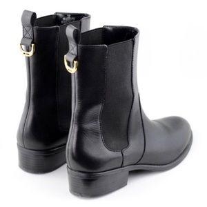 LAUREN RALPH LAUREN | Mono Black Boots Leather 8